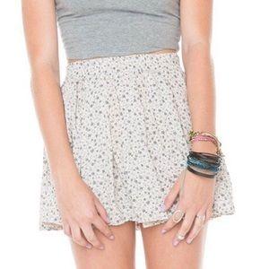 Brandy Melville Floral Luma Skirt